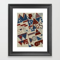 America The Brave Framed Art Print