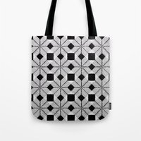 Silver Snow Tote Bag
