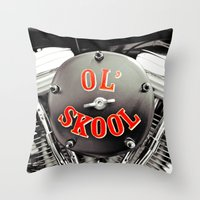 Ol' Skool Throw Pillow