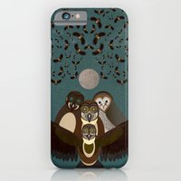 iPhone & iPod Case featuring Owls in the Sky by Thefunctionalfox