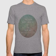 I'm On My Way Mens Fitted Tee Athletic Grey SMALL