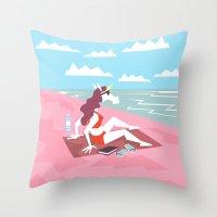 Fun In Sun Unicorn Throw Pillow