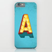 iPhone & iPod Case featuring A in lights by frogers