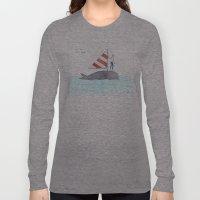 set sail on a whale Long Sleeve T-shirt