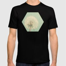 Dandelion Clock Mens Fitted Tee Black SMALL