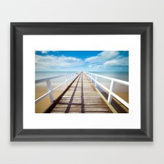Pier sky 4 Framed Art Print