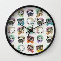 Cats & Bowties Wall Clock