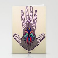 Hand Of Happiness  Stationery Cards