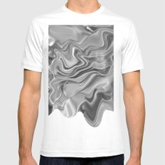 Blob Mens Fitted Tee SMALL White