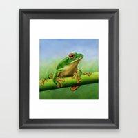 Moltrecht's Green Treefr… Framed Art Print