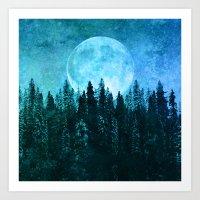 Moon Forest Art Print