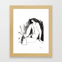 Nude Male With Vase And … Framed Art Print