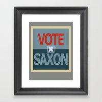 Vote Saxon Framed Art Print