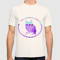 Aztek Owl Mens Fitted Tee Natural SMALL