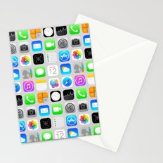Phone Apps (Flat design) Stationery Cards