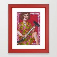 Domestic Goddess Framed Art Print