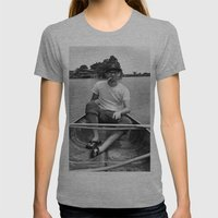 Ronn boating it up. Womens Fitted Tee Athletic Grey SMALL