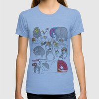 Animales Luchadores Womens Fitted Tee Athletic Blue SMALL