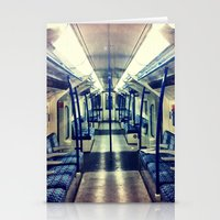 Empty tube- Victoria Line Stationery Cards