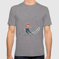 Sports d'hiver Mens Fitted Tee Tri-Grey SMALL