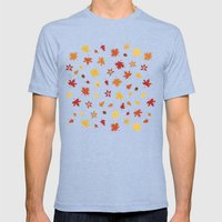Autumn Pattern Mens Fitted Tee Tri-Blue SMALL