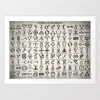 Symbols of Alchemists Art Print