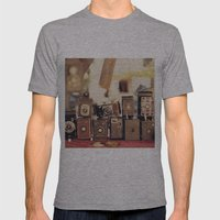 Old Cameras (Vintage and Retro Film Cameras Collection) Mens Fitted Tee Athletic Grey SMALL