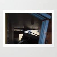 Blue Frame Motel, After … Art Print