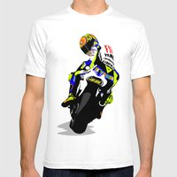 Valentino Rossi Mens Fitted Tee White SMALL
