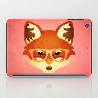 Hipster Fox: Rose iPad Case