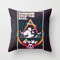 SOMEONE DROP THE BASS. (Dubstep Club) Throw Pillow