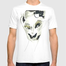 a faint smile Mens Fitted Tee White SMALL