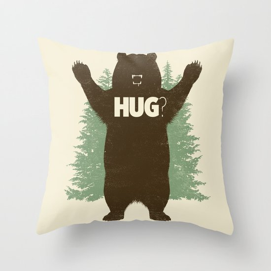 Bear Hug? Throw Pillow