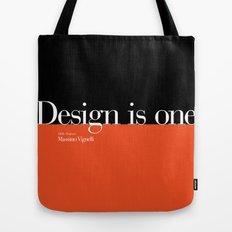 Design is One — Honoring Massimo Vignelli Tote Bag