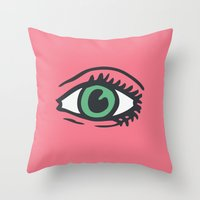 See All Evil Throw Pillow