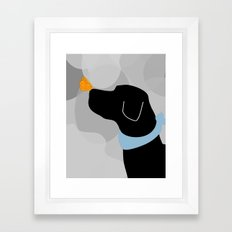 Black Labrador Dog Framed Art Print