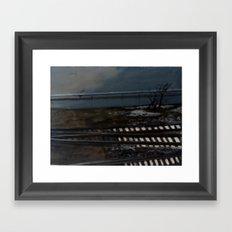 Snow on the Tracks Framed Art Print