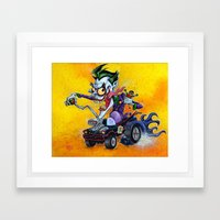 Hot Rod JOKER! Framed Art Print