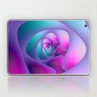 Spiral Labyrinth In Blue… Laptop & iPad Skin