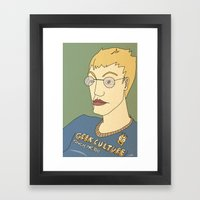 Geek culture / touch me, too Framed Art Print