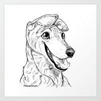 Greyhound Graphic Art Print