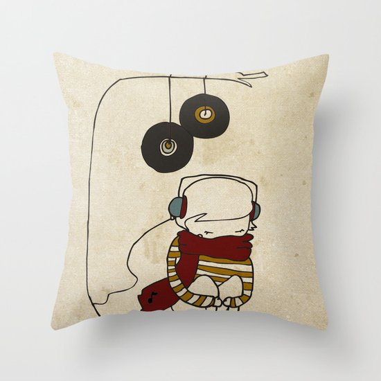 Music Tree Throw Pillow