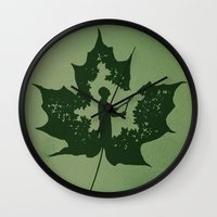 A New Leaf Wall Clock