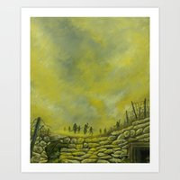Gas Clouds at Ypres Art Print