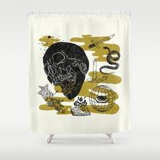 Planet Oblivion Shower Curtain