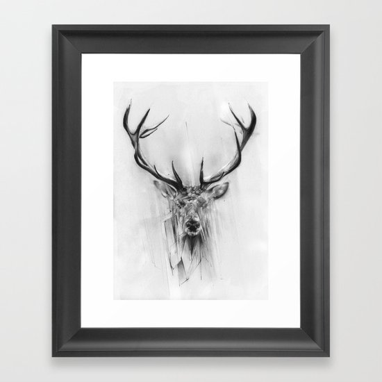 Red Deer Framed Art Print By Alexis Marcou Society6