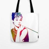 Audrey Hepburn Breakfast… Tote Bag