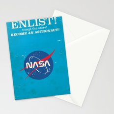 Enlist to become an Astronaut! Vintage nasa poster Stationery Cards