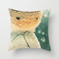 Snuggle bubble Throw Pillow