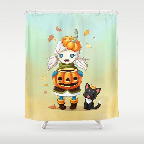 Pumpkin 2 Shower Curtain